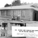 This shows construction on the clubhouse around 1951.  The clubhouse was built with volunteer labour, materials from Orco Block and a loan from Walter Knot.