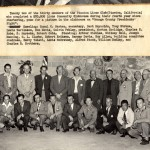 Group Photo by the Fire Place in 1951