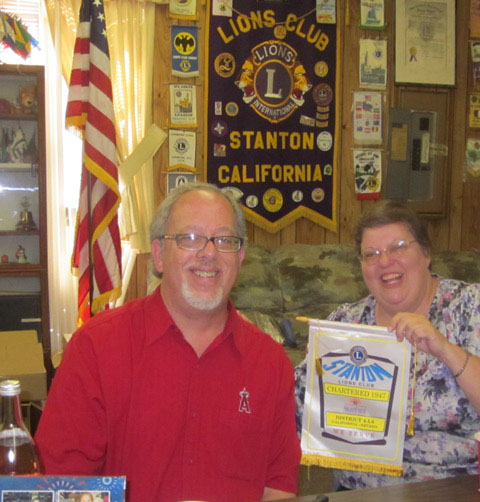 Bucks for Chuck Founder John Borack visits Stanton Lions Club