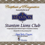 City of Stanton Appreciation